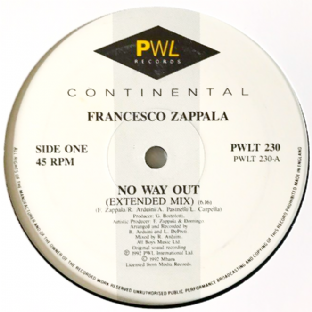 "Francesco Zappala - No Way Out (12"") (VG/NM)"